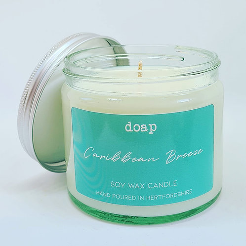 Caribbean Breeze Vegan Soy Wax Candle 250g