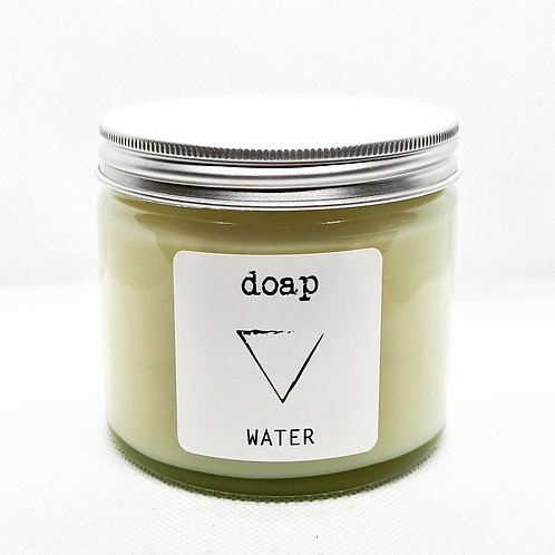 WATER Element Vegan Soy Wax Gemstone Glass Candle
