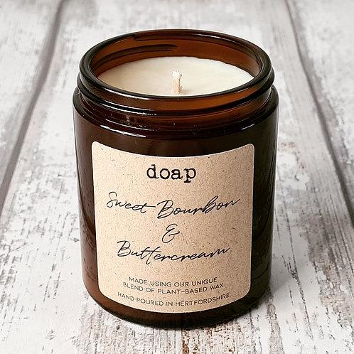 Sweet Bourbon & Buttercream Vegan Soy Wax Candle 180g