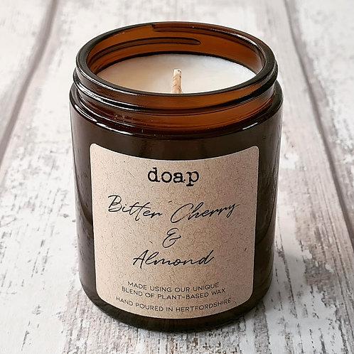 Bitter Cherry & Almond Vegan Soy Wax Candle 180g