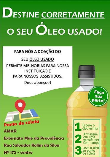 Campanha do Oleo AMAR Piedade