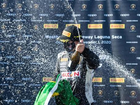 Jimenez fecha final de semana em Laguna Seca com pole e dupla vitória no Lamborghini Super Trofeo