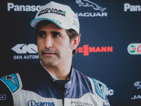 Sérgio Jimenez comemora resultado do teste com a Jaguar Racing na Fórmula E