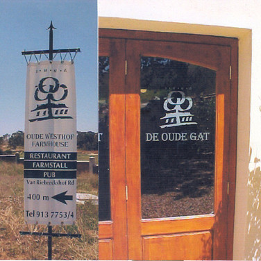 Oude Westhof Directional and Entrace
