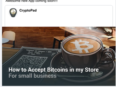 Read more about this exciting new App for cryptocurrency