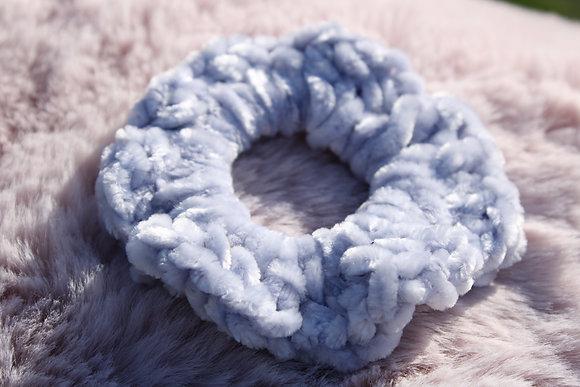 Periwinkle Velvet Scrunchie