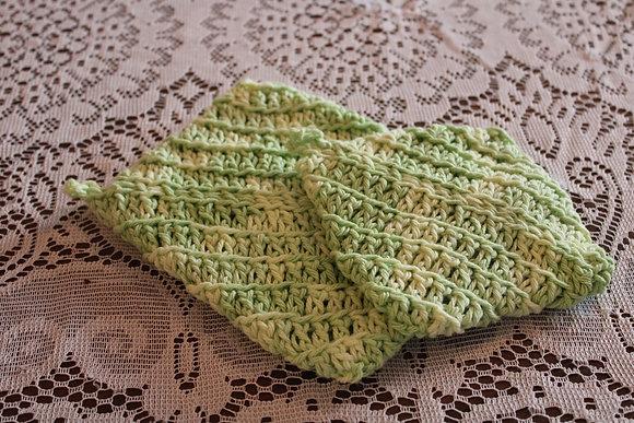Cotton Pot Holder Bundle (Green w/Envy)
