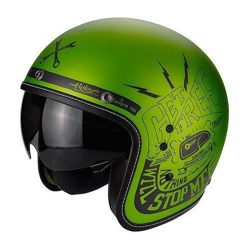 Scorpion Belfast Openface Helmets Fender Matt Green