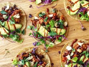 Spicy Pulled Jackfruit & Black Bean Tacos