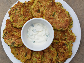 Zucchini & Chickpea Fritters