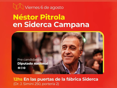 Néstor Pitrola visitará Campana