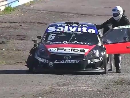 Abella rompió un neumático y abandonó en su debut en el Top Race