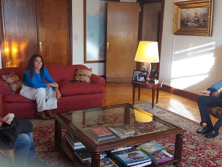 Reunión con el Ministro de Defensa para la llegada de la Operación General Belgrano a Campana
