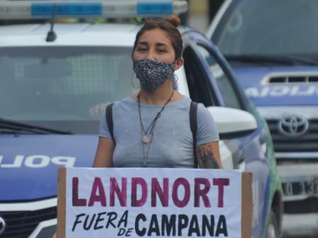 Campanenses se manifestaron contra Landnort