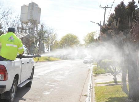 Realizan un importante operativo de sanitización y desinfección en Barrios Amigos