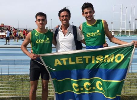 Atletismo: Juan Martín Marquine y Bruno Godoy compitieron en el Parque Olímpico