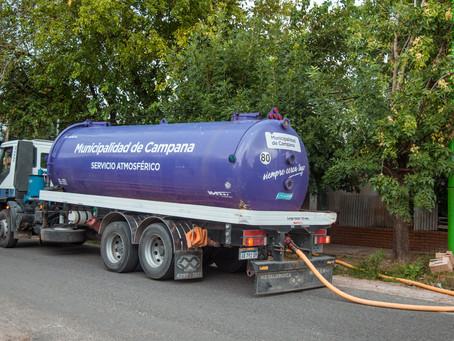 El camión atmosférico del Municipio continúa ofreciendo su servicio gratuito