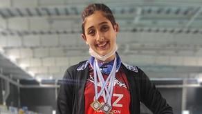 Agostina Hein consiguió dos oros y una plata en el Campeonato Metropolitano de Natación