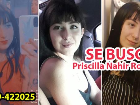 URGENTE: Se busca a Priscilla Nahir Robles