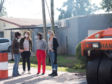 Casaretto junto a Mottino y Buchajezuk destacaron la obra de asfalto en La Josefa