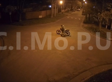 Gracias a las cámaras del CIMoPU, lograron recuperar una moto robada