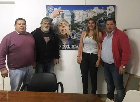 María Eugenia Giroldi fue recibida por el Sindicato de Camioneros