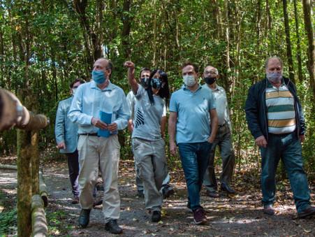 El Intendente recorrió el Parque Nacional Ciervo de los Pantanos