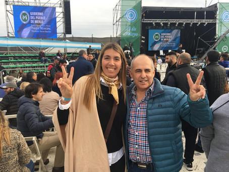 Mariu Giroldi, presente en el acto de presentación de la fórmula Fernández-Fernández en Merlo