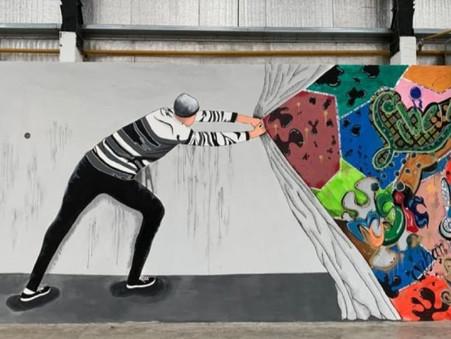 """Campana, 3° en """"El muro que libera"""", el concurso de muralismo en contexto de encierro"""