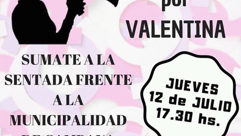 Sentada para exigir justicia por Valentina Urbano