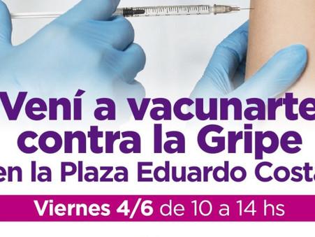 Se realizará una Campaña de Vacunación contra la Gripe y la Neumonía en la plaza Eduardo Costa
