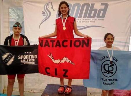 Natación: Dos oros y una plata para Agostina Hein en la 4° fecha del Clausura de FANNBA