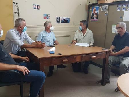 Miembros del Consejo de Salud Provincial coordinan acciones en Campana