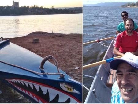"""Pablo Canteros, el único campanense en la regata de remo de travesía """"Vuelta al Lago"""""""
