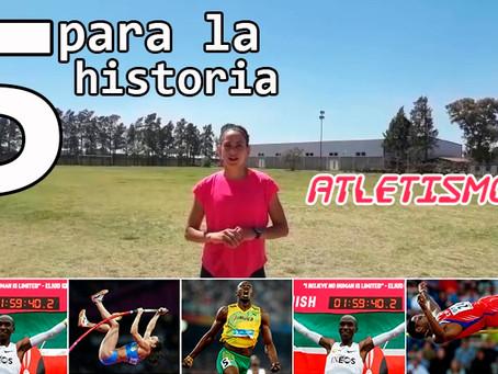 Agostina Ríos realizó el ''5 para la historia'' de atletismo