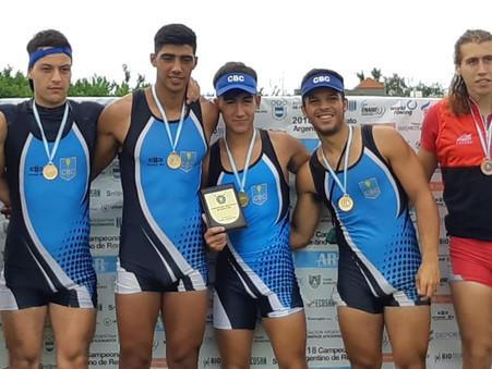 El cuatro sin sub-23 del CBC se consagró Campeón Argentino de Remo