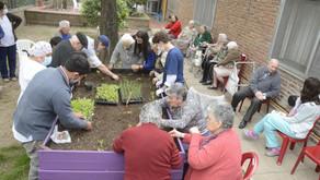 Se instaló la primera Huerta Orgánica en el Hogar Municipal de Ancianos