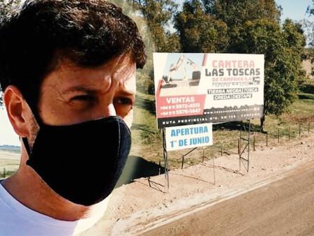 Alejo Sarna alertó por el funcionamiento ilegal de una tosquera que daña los humedales