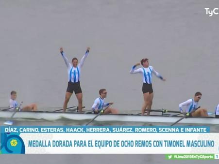 Histórica medalla dorada para Argentina en 8+: Joel Romero y Rodrigo Murillo CAMPEONES PANAMERICANOS
