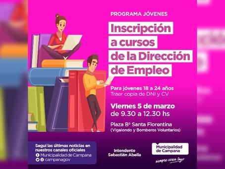 Está abierta la inscripción para los cursos de la Dirección de Empleo