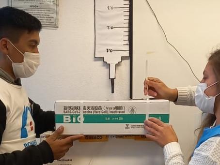 Llegaron otras 2400 segundas dosis de Sinopharm