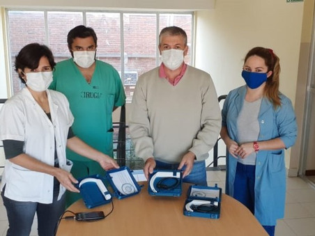 Donaron 4 videolaringoscopios al hospital