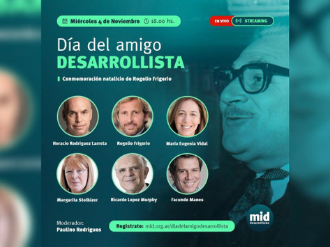 El M.I.D. celebrará este miércoles el ''Día del amigo Desarrollista''