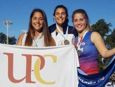 Agostina Ríos y Paula Díaz, campeonas en el 2° día de finales de los Juegos Universitarios