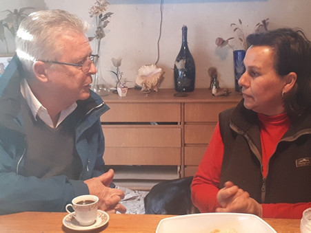 Rubén Romano y Stella Giroldi recorrieron San Felipe