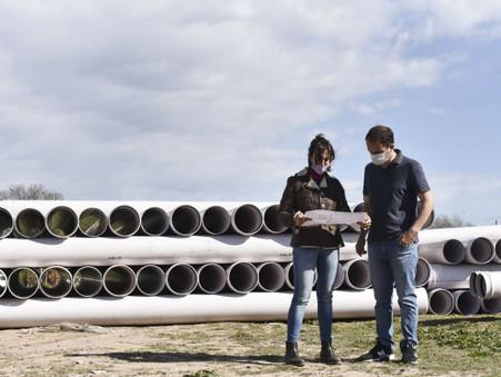 Comenzó la segunda etapa de la obra que posibilitará la llegada de las cloacas a cientos de familias