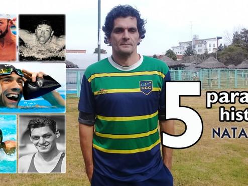 ''5 para la historia'' de la natación, por Darío González