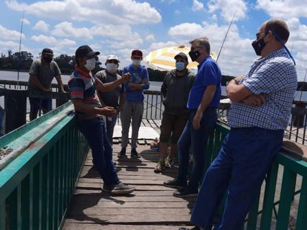 Axel Cantlon propuso mejoras en la costanera para impulsar la pesca deportiva