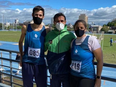 ATLETISMO: Melisa Bolis y Juan Martín Marquine compitieron en el 101° Campeonato Nacional de Mayores