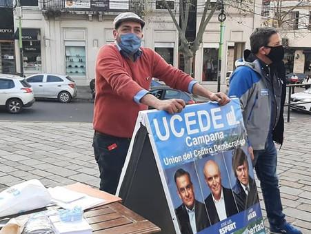 Luego del golpe sufrido, la UCeDé agradeció a la gente que la acompañó